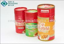 Printing Cylinder Paper Canister For Food Packing/dried meat floss