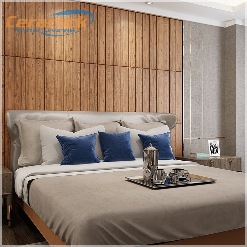 Hot <strong>sales</strong> 3D wood design self-adhesive foam wall sticker pu decorative wall panel