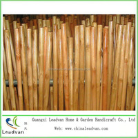 lacquer varnished wooden mop handle/broom stick/brush handle
