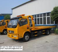 6.1-7.5tons road wrecker towing vehicles for sale, flat tow truck for sale