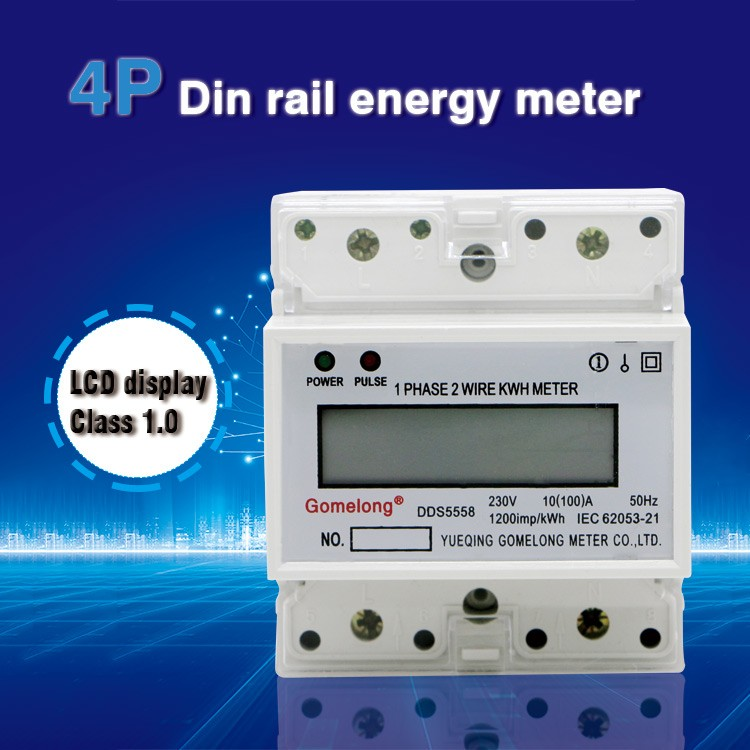 best multimeter 1 phase rail electric energy meter