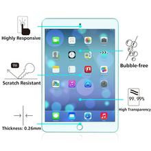 highly responsive scratch resistant high transparency tempered glass Screen protector for ipad 2/3/4 for ipad mini/pro
