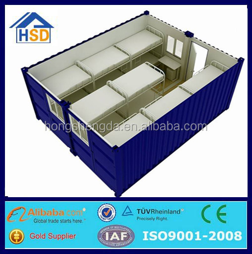 2*20ft construction site labor camp prefab shipping container house