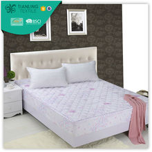 Polyester Printed Twin Fitted Quilted Bedspreads Pattern With Elastic