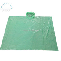 High quality adult plastic disposable raincoat