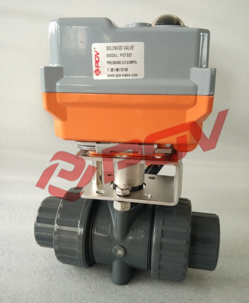 2 way double union hot sale 1 inch plastic pvc solenoid ball valve