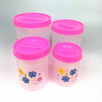 hot sales1.4L 2.4L 4L 6.5LGrains Plastic Storage Box Kitchen Accessories Candy Beans Food Container Set