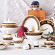P&T Royal Ware high quality western style home dinner set 48 pcs bone china dinner set for home