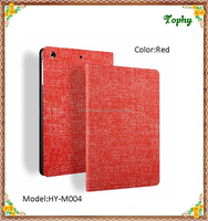Red Cowboy Grain Folio PU Leather Smart Cover Fold Tablet Case For ipad mini 3