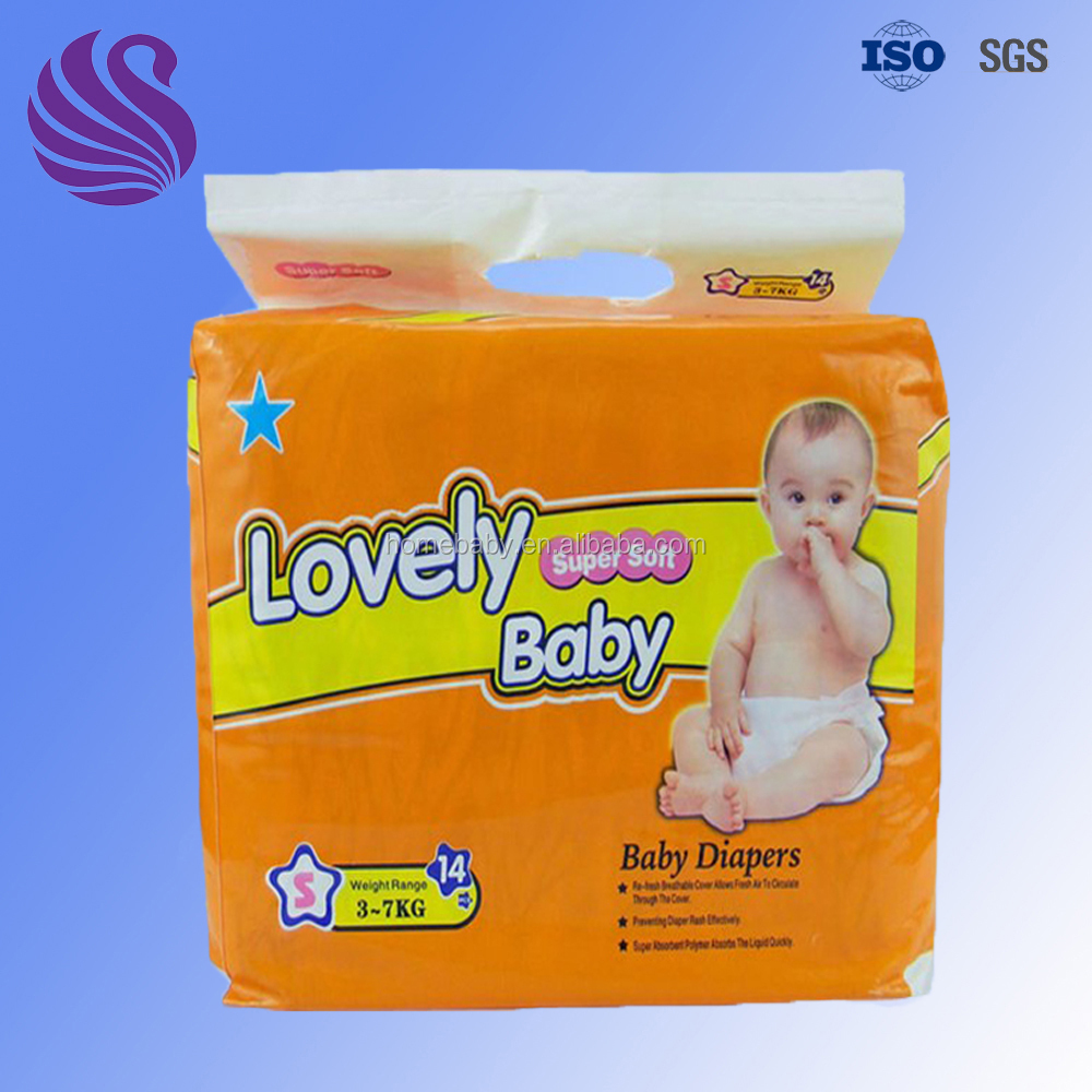 Breathable Clothlike Film Disposable Sunny Designer Baby Diaper