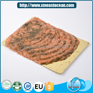 2017 New item delicious smoked seafood with vanilla salmon mince