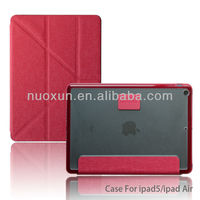 Wholesale flip leather smart cover case for ipad 5