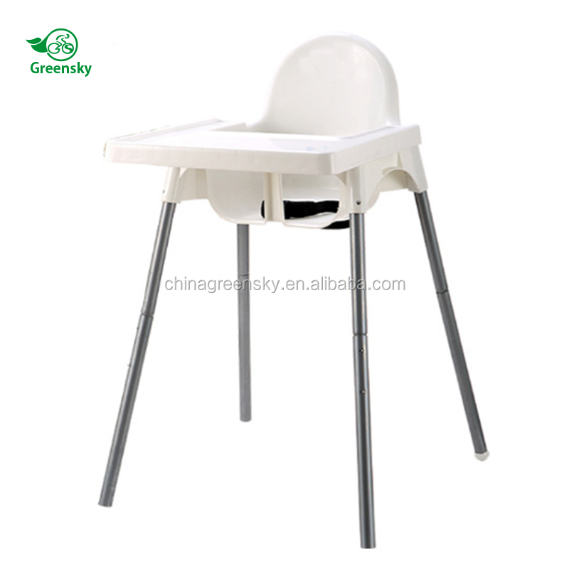 2018 China factory Indoor Outdoor baby swing high chair for dining and feeding