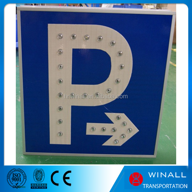 Solar Power Traffic Road Sign Led Waring Parking Signs