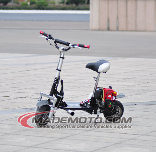 4 stroke 38cc mini gas motor scooter with hydraulic suspension