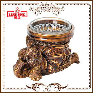 Wholesale custom made vintage table top antique round cigar ashtray for sale