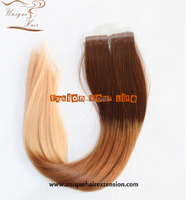 Hot!!! Wholesale Non Chemical Hair Color 100% Virgin Indian Remy Temple Hair Tape Hair Directly Factory Price