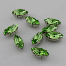 2015 peridot dark garment Loose crystal fancry stone with claw can DIY