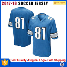 Hot sale sublimation digital printing customized football jerseys