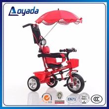 2017 Cheap Push Along Baby Bike ,Safety child Tricycles with Sunshade in Hebei