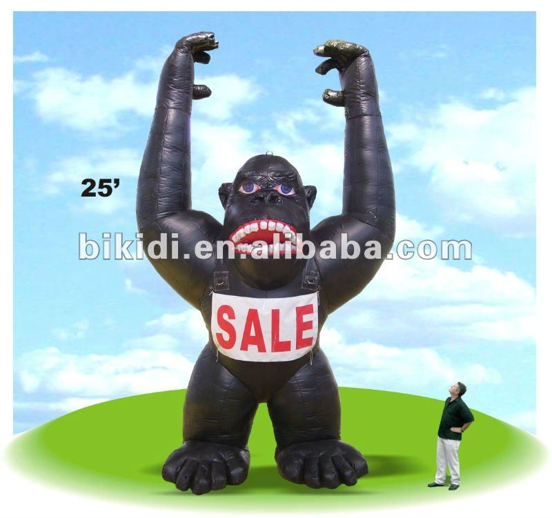 Gorilla Balloon,Inflatable king kong,sale inflatable gorilla K2057