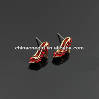Rhinestone High Heel Fashion Stud Earrings