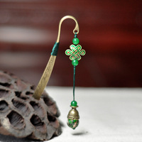 Coloured glass jade pendant, cloisonn bookmarks for good sale in China