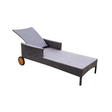 Professional Popular outdoor garden wicker daybed Aluminum Frame Rattan Chaise sun Lounge chair
