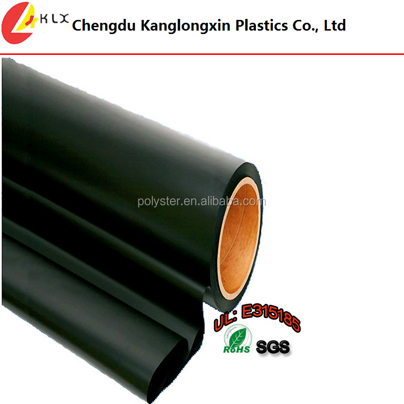 Black Textured Polycarbonate Sheet/rolls With Flame-retardant