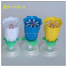 opening sparkler music flower candle