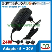 power adapter 12v 2a for Microsoft Surface 10.6 RT Tablet PC with eu us uk au plug
