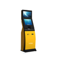 Self-service Touch Screen Payment Terminal With Cash Acceptor And Card Reader