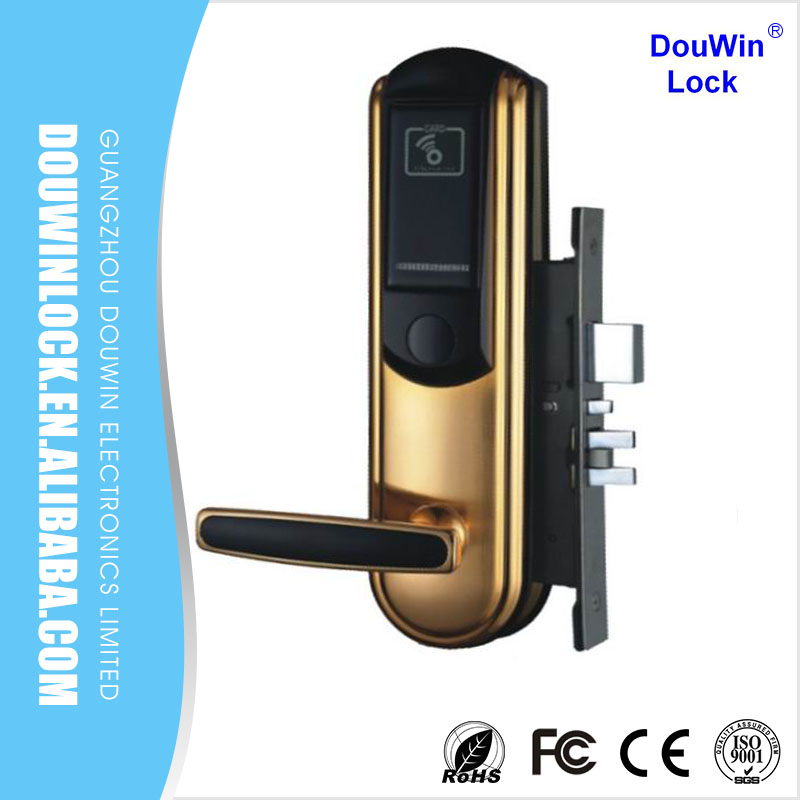 hot sale hotel elctronic anti theft door lock with software