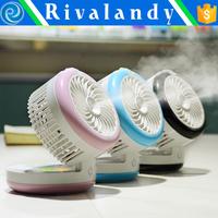 Handheld Rechargeable Mini Fan Mist Water Air Spray Fan Cooling Humidifier Fan