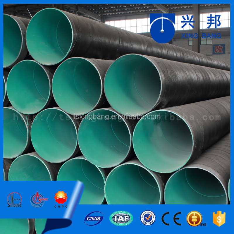 2015 best selling water oil gas pipeline 3lpe coated api5l spiral welded steel pipe