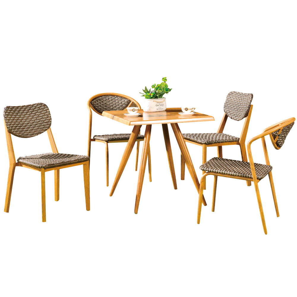 Rust Proof Outdoor Round Dinning Table 6 Chairs Garden General Use