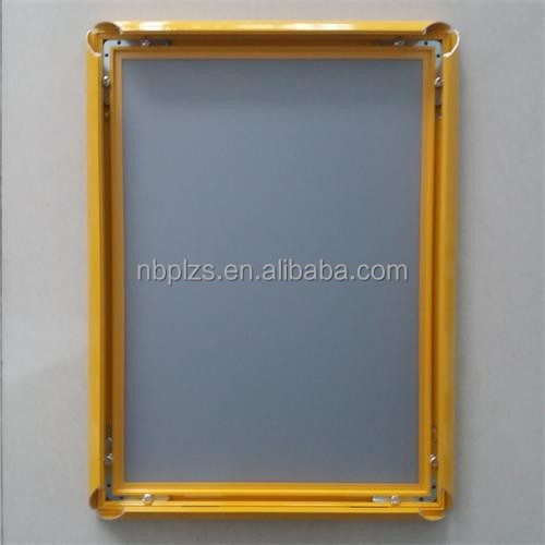 Customized <strong>sizes</strong> aluminum clip <strong>frame</strong>,Advertising <strong>poster</strong> <strong>frames</strong>,yellow snap <strong>frame</strong>
