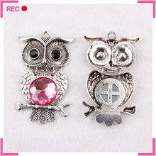 Owl shaped pendants charms, custom animal charms for jewelry making