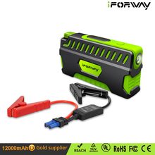 Car Emergency Kit Battery Booster Clamp Cables 12000mAh Jump Starter Power Bank