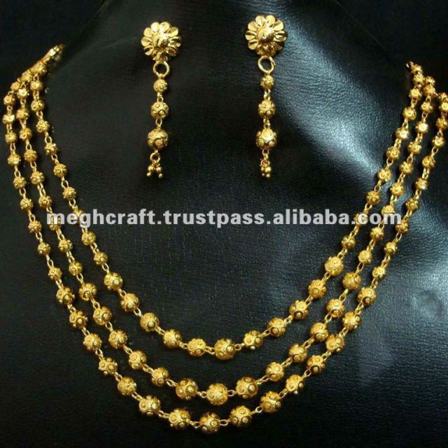 African Gold plated jewelry-new Gold plated jewelry -South indian jewellery - imitation jewellery-costume imiatation jewelry