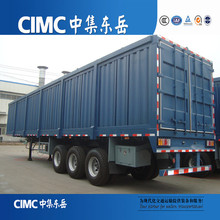 Van Shaped trailer factory cargo transporting 60ton 2 axles box semi trailer