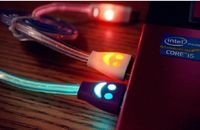sync charger led usb cable micro phone led usb cable for charger