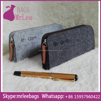Custom Design and color zipper felt pen bags