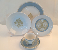 Blue and white porcelain dinnerware set in China
