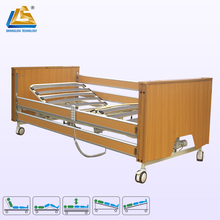 Five function electric home care bed wooden home care bed