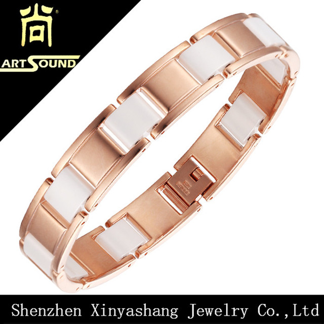Wholesale Rose Gold& White Ceramic Bracelet Fashion Accessories Jewelry Women