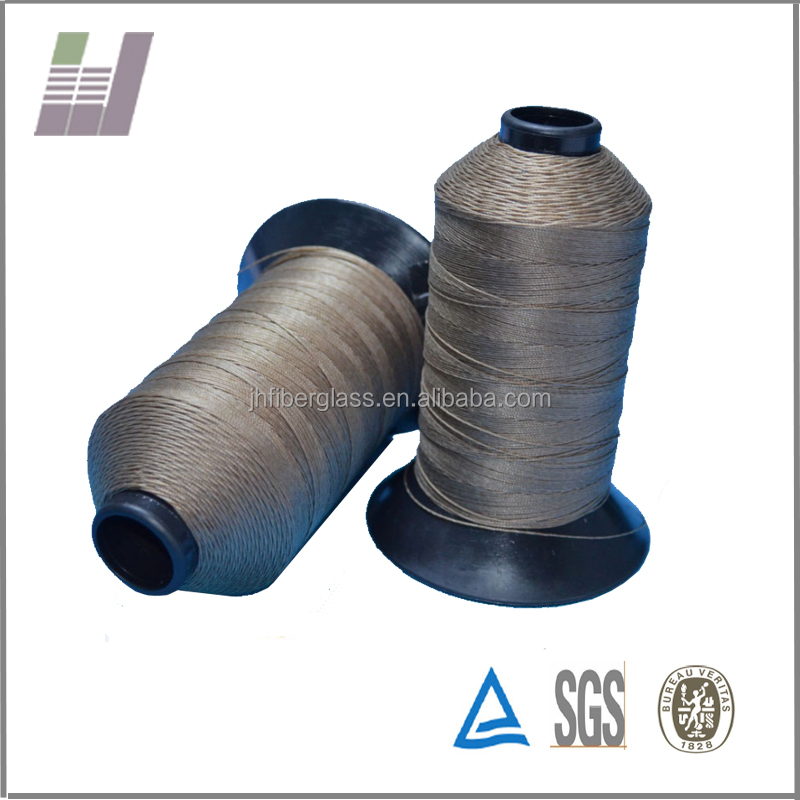 we supply high strengh and high temperature resistance E glass fiberglass yarn with teflon coating, sewing thread