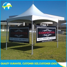 Commercial Ez Display 10x10ft Fold White Diy Hexagonal Aluminum Outdoor Frame Canopy