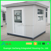 Flat roof prefabricated public guard house /sentry box