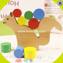 wholesale baby wooden squirrel toy hot sale wooden squirrel toy W13D091